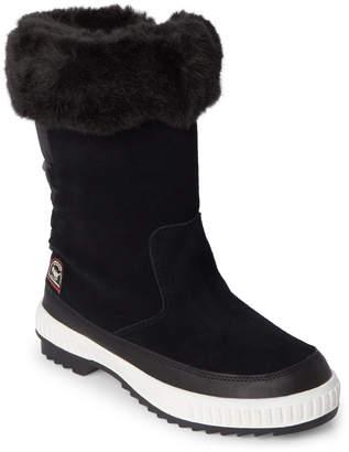 Pajar Canada Black Barb Faux Fur Cuff Waterproof Boots