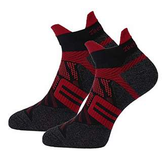 Toes&Feet Women's 2-Pack Red Anti-Sweat Deodorant Thin Ankle Compression Running Socks