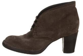 Alberto Fermani Suede Lace-Up Ankle Boots