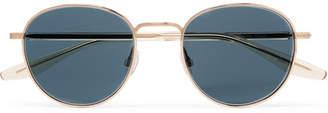 Barton Perreira Tudor Round-Frame Gold-Tone Sunglasses