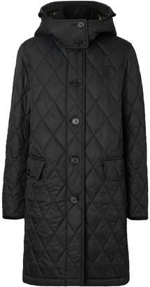 Burberry detachable hood quilted coat