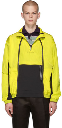 Givenchy Yellow Zippered Windbreaker Jacket