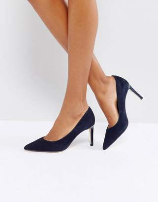 Dune Pointed Toe Kitten heel Court Shoe