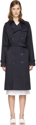 A.P.C. Navy Greta Trench Coat $660 thestylecure.com