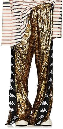 Faith Connexion Men's Logo-Striped Sequin-Embellished Track Pants