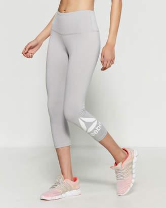 Reebok Grey Heather Skinny Capri High-Rise Leggings