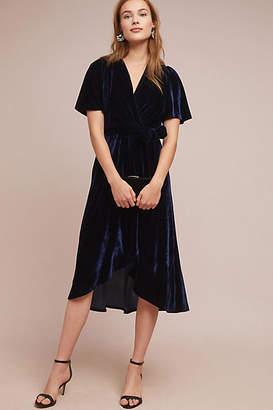Donna Morgan Fiorenza Velvet Wrap Dress