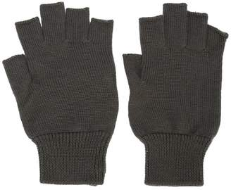 Rick Owens fingerless fitted gloves