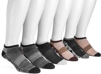 Muk Luks Men's Fairisle 6-Pack No-Show Compression Arch Socks