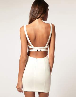 Asos DESIGN Bodycon Dress with Strappy Back Detail