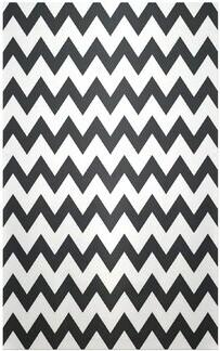 e by design Flatweave Black/White Area Rug e by design