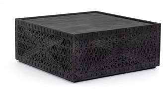 Pottery Barn Java Carved Reclaimed Wood Coffee Table