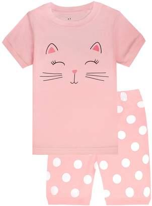 little cat Boys Pajamas 2 Piece Toddler Kids Sleepwear Clothes Sets Size 3