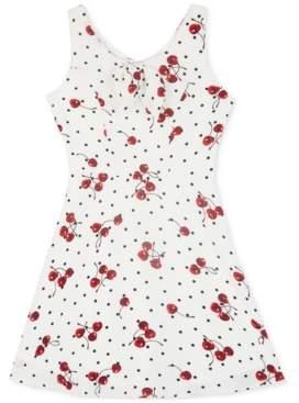 BCX Big Girls Cherry-Print Skater Dress