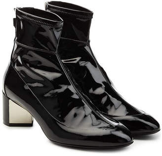 Pierre Hardy Patent Leather Ankle Boots