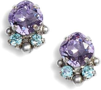 Sorrelli Cushion Cut Crystal Earrings