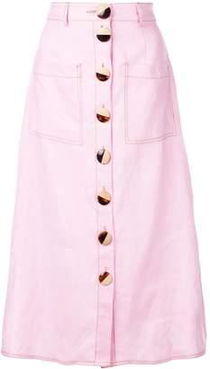 Nicholas front button skirt