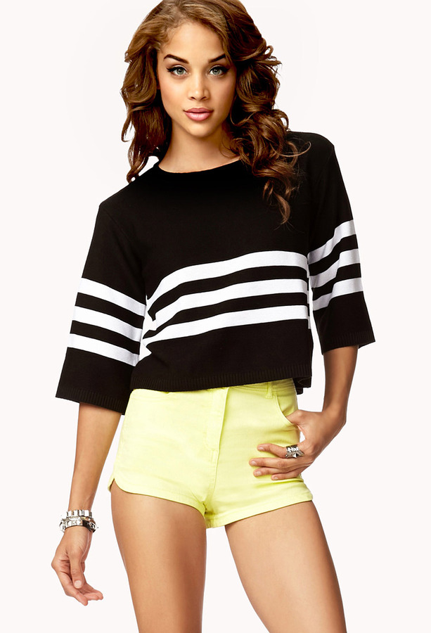 Forever 21 Boxy Striped Sweater