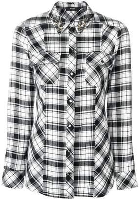 Twin-Set embellished collar plaid shirt
