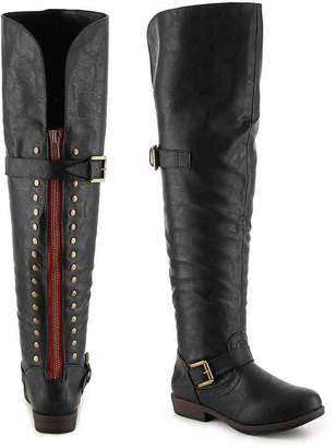741bdfde00a Journee Collection Black Over The Knee Women s Boots - ShopStyle