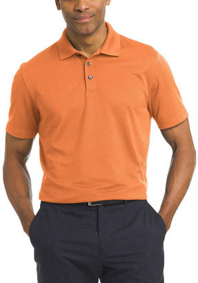 Van Heusen Short Sleeve Knit Polo Shirt Slim