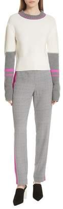 Jason Wu GREY Colorblock Merino Wool Sweater
