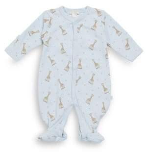Kissy Kissy Baby Boy's Giraffe-Print Pima Cotton Footie