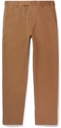 Dries Van Noten Tapered Cropped Cotton-Twill Trousers