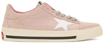 Golden Goose Pink Suede Grindstar Sneakers