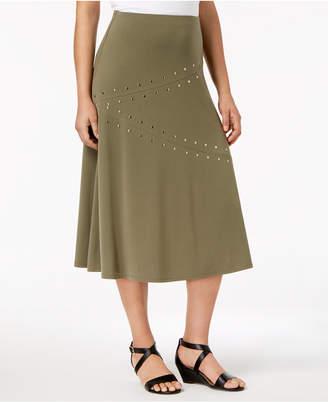 JM Collection Embellished A-Line Skirt