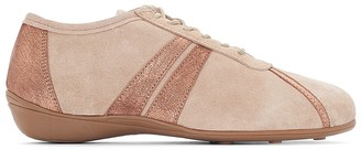 Anne Weyburn Two-Tone Leather Trainers