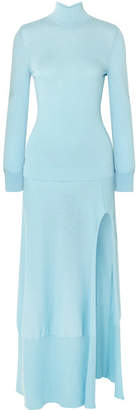 Jacquemus Baya Cutout Cotton-blend Maxi Dress - Sky blue