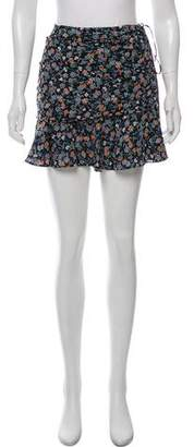 Veronica Beard Silk Ruffle Trim Mini Skirt w/ Tags
