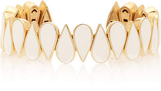 MER's Gold-Plated Sterling Silver And Enamel Cuff
