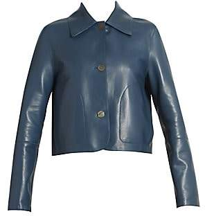 Loewe Women's Crop Leather Jacket