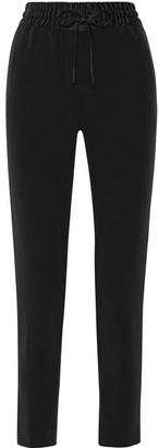 DKNY - Satin-trimmed Crepe Tapered Pants - Black $258 thestylecure.com