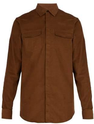 Berluti - Cotton Corduroy Shirt - Mens - Brown