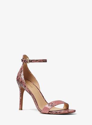 Michael Kors Harper Snakeskin Sandal