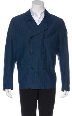 Burberry Linen-Blend Chambray Peacoat