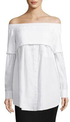 DKNY Off-the-Shoulder Shirt