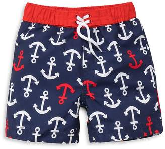 Little Me Baby Boy's Anchor Graphic Swim Shorts - Navy, Size 6-9 mo