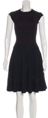 Alexander McQueen Silk Patterned Knit Dress