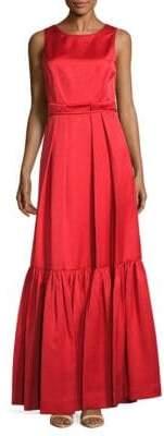 Zac Posen Back-Tie Sleeveless Gown