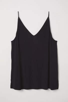 H&M H&M+ V-neck Jersey Top - Black