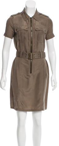Burberry Burberry Brit Silk Utility Dress