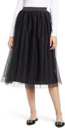 Halogen Tulle Midi Skirt