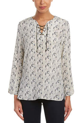 Nell Alder Lace-Up Silk Tunic