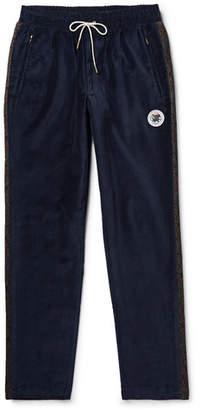 Leon Aimé Dore Slim-Fit Cotton-Velvet Drawstring Track Pants