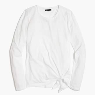 J.Crew Factory Long-sleeve side-tie T-shirt