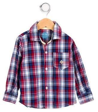 Andy & Evan Boys' Plaid Button-Up Shirt